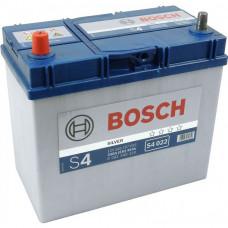 Аккумулятор  BOSCH 45AH 330A(EN) klemi 1 (238x129x227) S4 022, белый