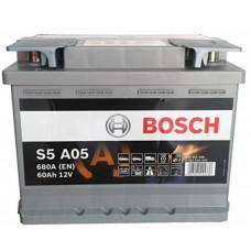 Аккумулятор Bosch 60AH 680A(EN) клемы 0 (242x175x190) S6 005 AGM
