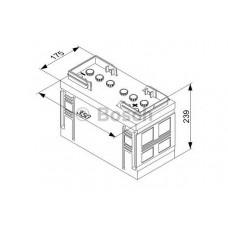 Аккумулятор Bosch 110Ah +/- 0092T30360