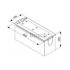 Аккумулятор Bosch 140Ah 0092T40750