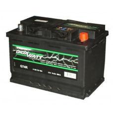 Аккумулятор Gigawatt 74AH 680A(EN) клемы 0 (278x175x190) S4 008