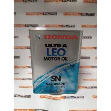 Масло моторное HONDA ULTRA LEO 0W-20 (0W20) 4L