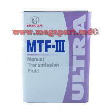 Масло трансмиссионное HONDA ULTRA MTF-III 4L (MTFIII)