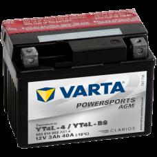 Аккумулятор VARTA 12V  3AH 40A(EN) клемы 0 (114x71x86) YT4L-BS AGM