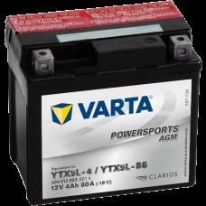 Аккумулятор VARTA 12V  4AH 80A(EN) клемы 0 (114x71x106) YTX5L-BS (YTX5L-4)