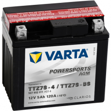 Аккумулятор VARTA 12V  5AH 120A(EN) клемы 0 (113x70x105) TTZ7S-BS AGM