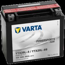Аккумулятор VARTA 12V 18AH 250A(EN) клемы 0 (177x88x156) YTX20L-BS AGM